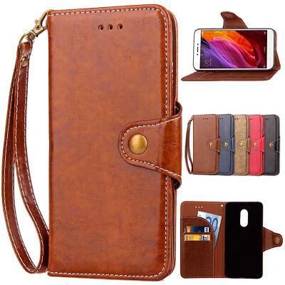 Flip Leather Card Stand Wallet Strap Business Bag Case For Xiaomi Redmi Note4X