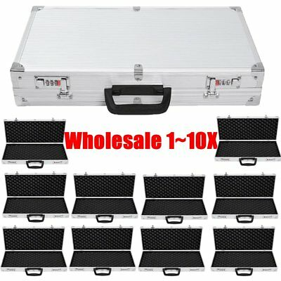 LOT 1~10X Aluminum Framed Locking Gun Carry Case Handgun Pistol Hard Lock Box B2