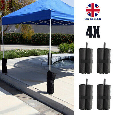 4 x GAZEBO FEET FOOT LEG POLE SANDBAG ANCHOR WEIGHTS MARQUEE STALL SAND BAGS UK