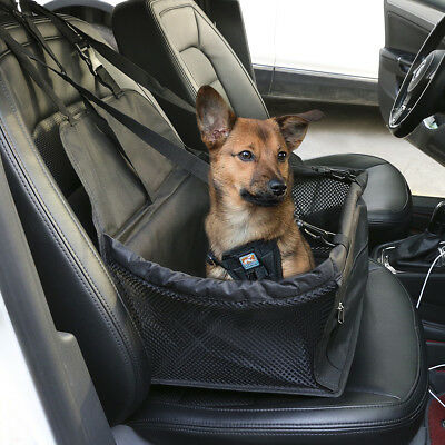Dog Booster Seat Black for Car Truck Travel Carrier Non-Scratch+Leash Portable