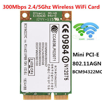 2.4+5G 300Mbps 802.11a/g/n Wireless WiFi Mini PCI-E Network Card For Dell Acer