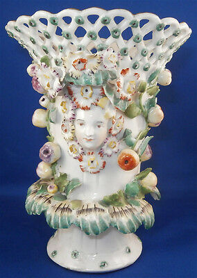 Antique 18thC 1750's Derby Porcelain Frill Vase Porzellan English 1700's England