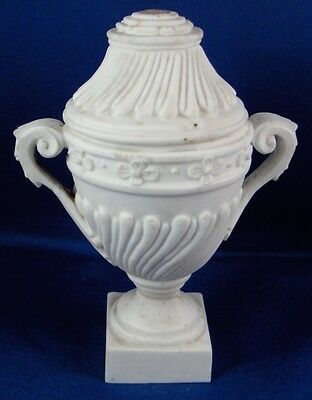 Antique 18thC Mennecy Biscuit Porcelain Lidded Urn / Vase Porzellan Soft Paste