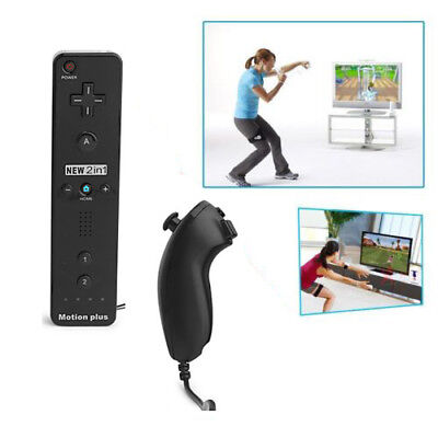 Wireless Remote+Nunchuck Controller for Nintendo Wii+Silicon Case Wrist Strap