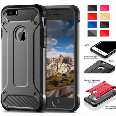 Hybrid Rugged Rubber Shockproof Armor Case Cover Skin for iPhone 6S 7 8 Plus X