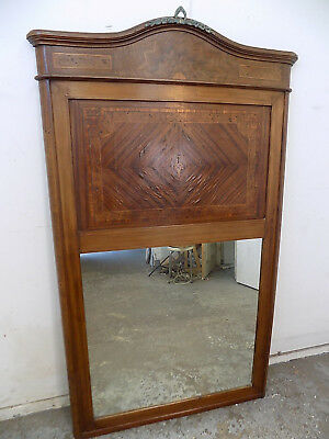 """mahogany,inlaid,mirror,wall mirror,6' h x 3'5"""" w,business,home,bar,large,antique"""