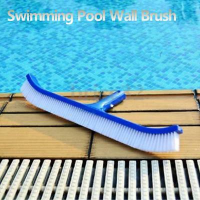 "18"" Curved Swimming Pool Spa Wall & Floor Brush Floor Algae Brush Cleaner Broom"