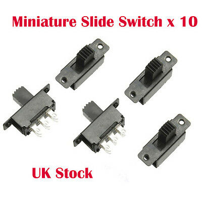 10 x Mini Miniature On/On 6 Pin Slide Switch DPDT