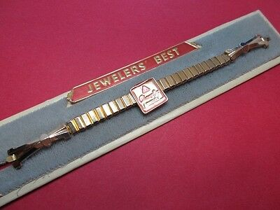 NEW High End 1940s/1950s JB Champion Ladies 10KGF Stretch Watch Band WOW
