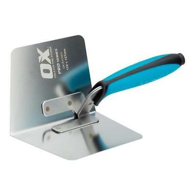OX Tools Inside / Internal Corner Plasterers Trowel Stainless Steel OX-P013001