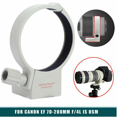 65mm Metal Tripod Mount Lens Collar Ring For Canon EF 70-200mm f/4L IS USM White
