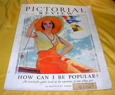 Vtg Magazine, Pictorial Review, July 1931 W Dolly Dingle Paper Dolls, Fashions