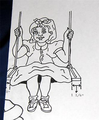 VTG 1982 WOODWORKING pattern YARD, ROOM FOLK ART, LIFE SIZE LITTLE GIRL ON SWING