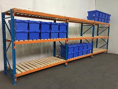 Pallet racking, Longspan shelving, 1 - 8 bays complete with BRAND NEW DECKING