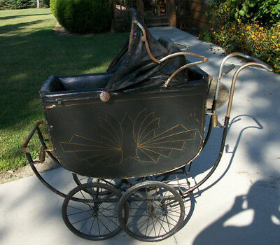 Antique Baby Carriage Stroller Full Size - H.A. Pearl Co. Brooklyn N. Y.