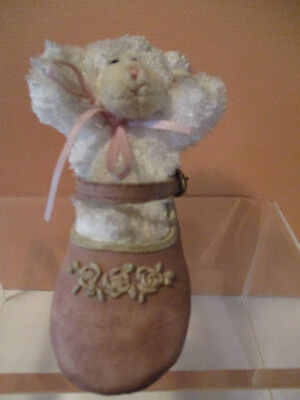 Boyd's Bear-Foot Friends, Mimsie & Weesteps, Tiny Lamb w/Pink Dress-up Shoe
