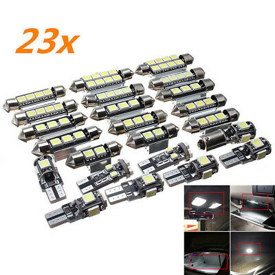 23x  Car LED White Inside Light Kit Dome Trunk Mirror License Plate Lamp Bulb SE