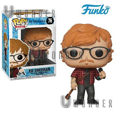 Funko POP Rocks # 76 ED SHEERAN Vinyl Figure musica pop rock NUOVO 2018
