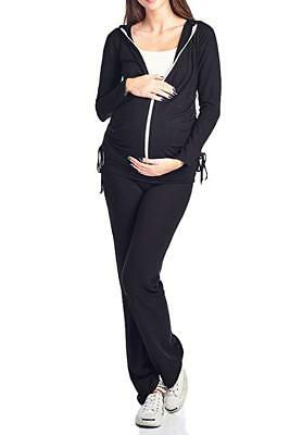 27ea63e77d5e3 Beachcoco Women's Maternity Fold Over Comfortable Lounge Pants Made in USA