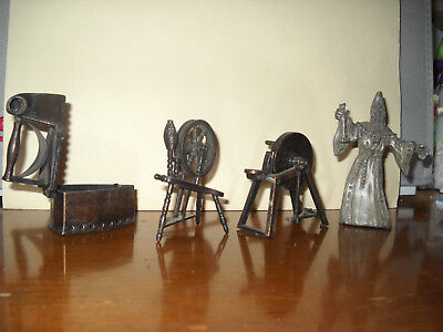 vintage pewter sewing trendels and magician plus pewter clothes iron