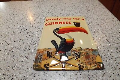 """2000 """"Lovely day for a GUINNESS"""" 12 x 8 Metal Sign - Made in Ireland-NEW-NICE!"""