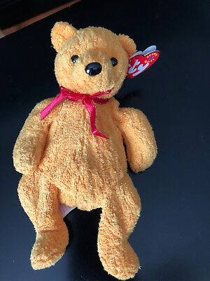 2001 Ty Original Beanie Babies POOPSIE The Gold Bear RETIRED w/Tags