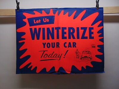 "Vintage 1950's Firestone ""Winterize Your Car"" Display Advertising Kit ~ 7 Pieces"