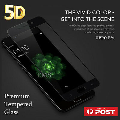 5D Full Coverage Tempered Glass Screen Protector Guard for Oppo R11 R9S Plus AX5