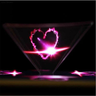 "8F47 3D Holographic Hologram Display Pyramid Projector Video For3.5-6.5"" Smart P"