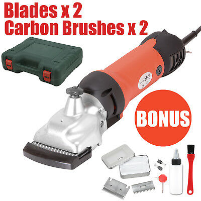 350W Electric Horse Clippers Cattle Trimmer Shearing Clip Hair Grooming 2 Blades