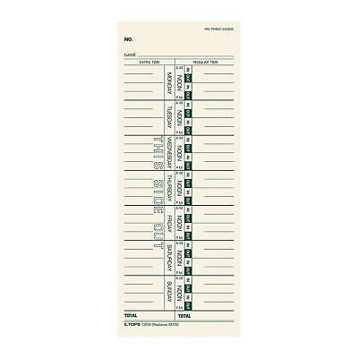 TOPS 1259 Time Card for Acroprint/IBM/Lathem/Simplex Weekly 3 1/2 x 9 Box of 500