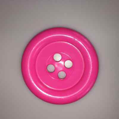 Shocking Pink Extra Large Clown Buttons Size 100 - 63mm