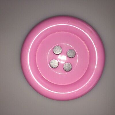 Pink Extra Large Clown Buttons Size 100 - 63mm