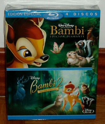 Bambi +Bambi 2 Edition Special 2 Blu-Ray+2 Dvd New Sealed (Unopened) R2