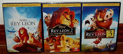 The Lion King The Trilogy Editions Special 3 Dvd Disney New (Unopened) R2
