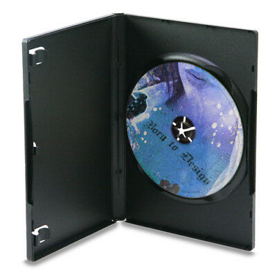 100 Full Sleeve High Quality Premium Black DVD Cases - Video Musice Software CD