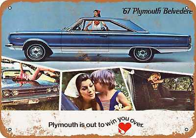 """7"""" x 10"""" Metal Sign - 1967 Plymouth Belvedere - Vintage Look Repro"""