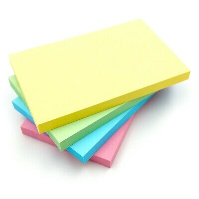 PASTEL Colour Removable Sticky Post It Notes 76mm x 127mm 3x5 100 Sheets per Pad