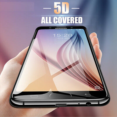 5D Full Coverage Tempered Glass Screen Protector For Samsung Galaxy J8 J5 J7 Pro