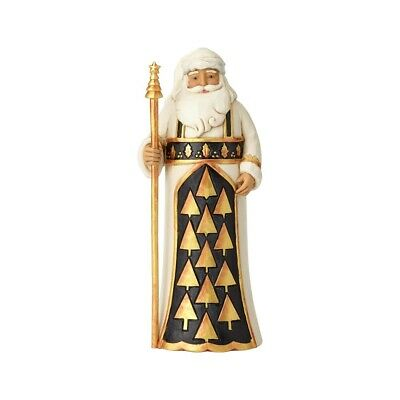 Enesco H8 Jim Shore Christmas Black & Gold Santa W/ Staff Figurine 11in 6001434