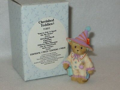 """you've Put A Spell On My Heart"" Cherished Teddies Cora Halloween  #113511 - Mib"