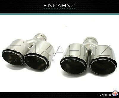 Barugzai Design 4 Inch Exhaust Tips Twin Quality Performance Stainless Steel