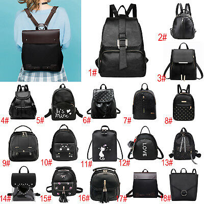 Women Backpack Pu Leather Handbag Shoulder Bag Rucksack Purse School Satchel Lot