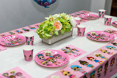 LOL Doll Surprise Birthday Party Supplies Plate Napkin Decoration Balloon DIVA