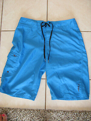 2a20122706 Men's Teen 28 O'Neill Swim Trunks Boardshorts Blue Velcro Tie Pockets