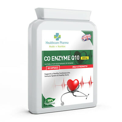 Co Enzyme Q10 CoQ10 300mg 60 Capsules - Antioxidant, Heart, Energy Supplement UK