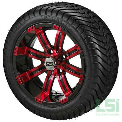 4 215/35-12 Tire on a 12x7 Black/Red Casino Wheel W/Free Freight