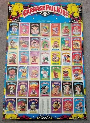 "1985 Topps Garbage Pail Kids Poster 1A & 1B 23""x35"" New and Sealed Hard to Find"