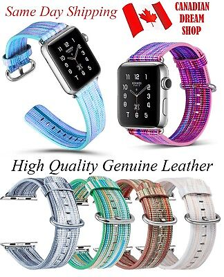 Genuine Leather Multicolor Strap For Apple Watch Band 42mm/38mm iWatch 1 2 3
