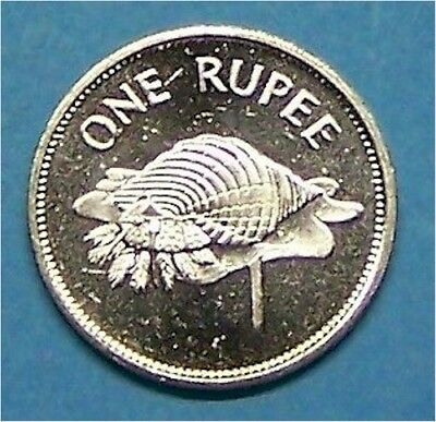 "Seychelles  1992  1 Rupee  ""triton Conch Shell""  Km50.2  Uncirculated"